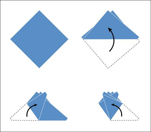 Comment plier une pochette quatre pointes