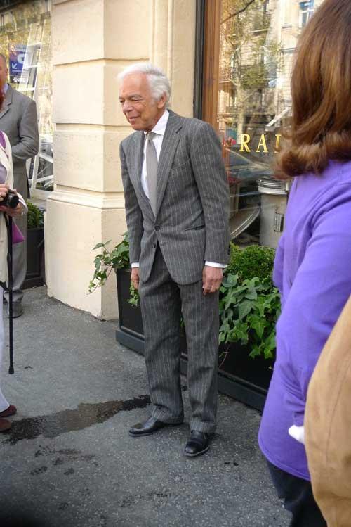 Ralph Lauren lui même en visite dans sa boutique