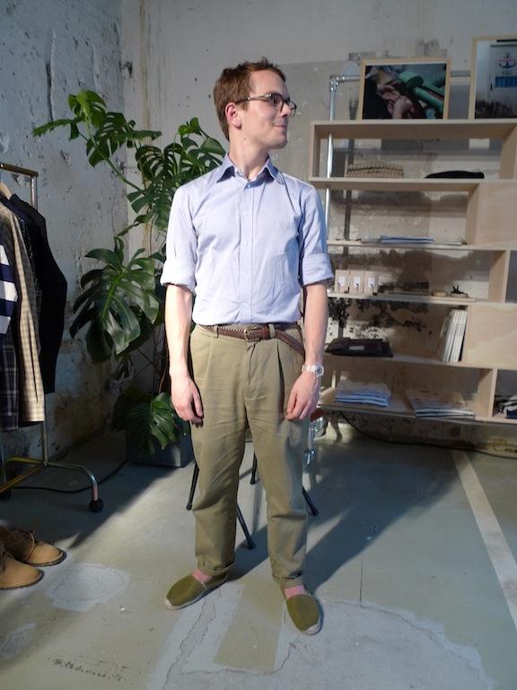 pantalon taille haute années quarante