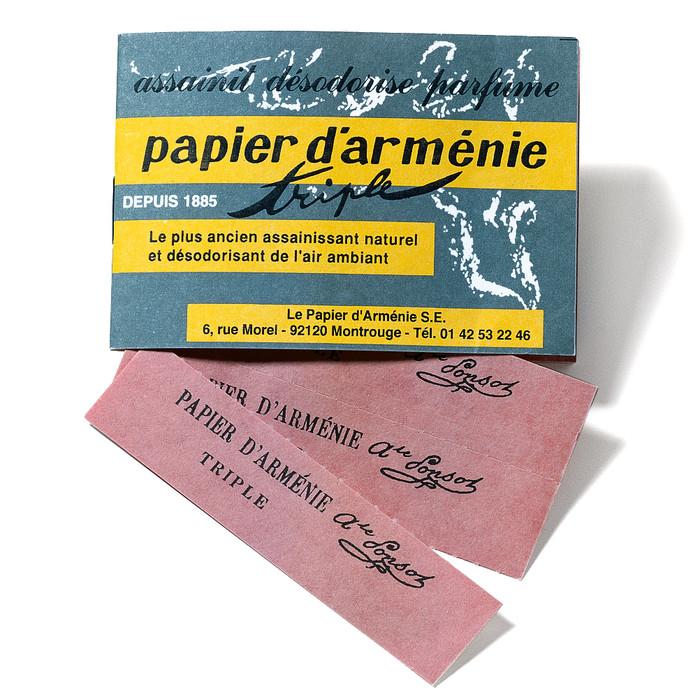 Le papier d'armenie, calmant ? Papier-armenie