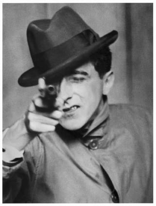Portrait of Jean Cocteau gun berenice abbott paris exhibition