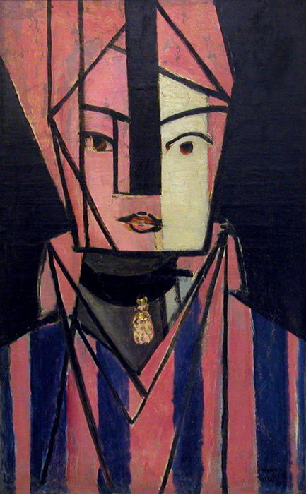 Protrait of Matisse daughter Marguerite pink