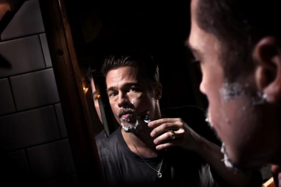 Brad Pitt miroir rasoir icone Paolo Pellegrin Maison européenne de la photographie
