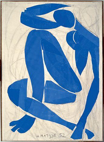 Nu Bleu Matisse gouache série