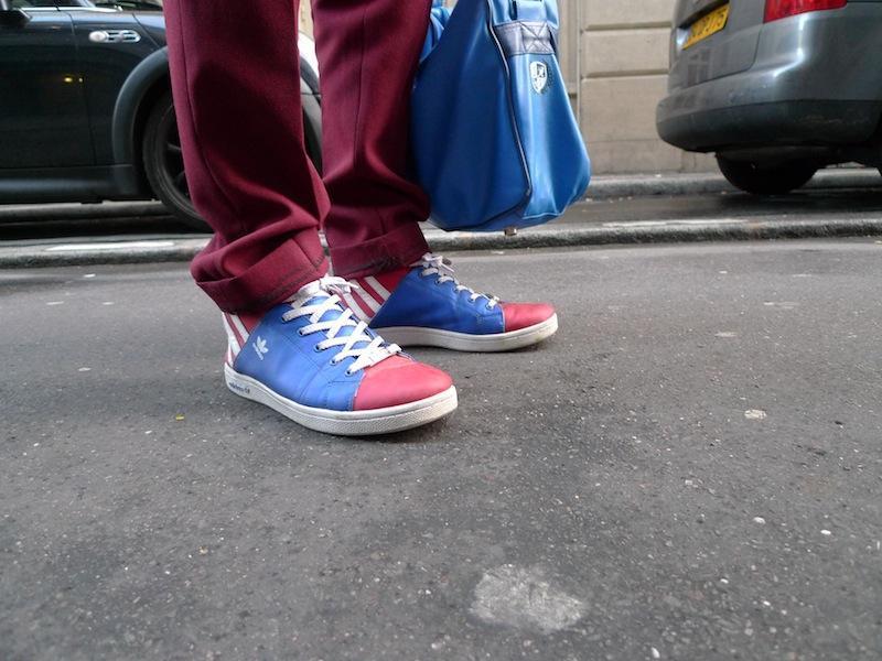 baskets tricolores