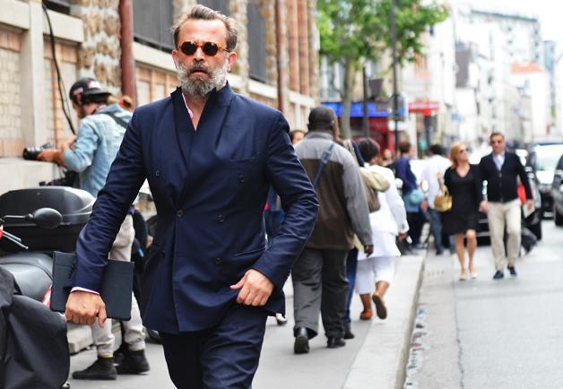 comment avoir du style mode homme costume croisé bleu
