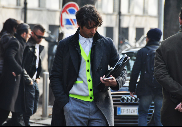 cardigan liser fluo