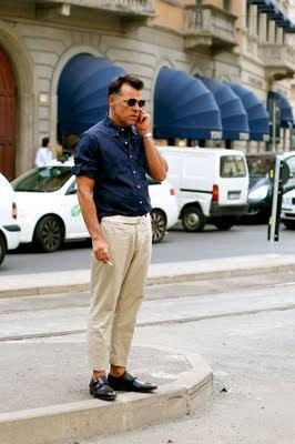 pantalon beige tailleur dandy streetstyle homme
