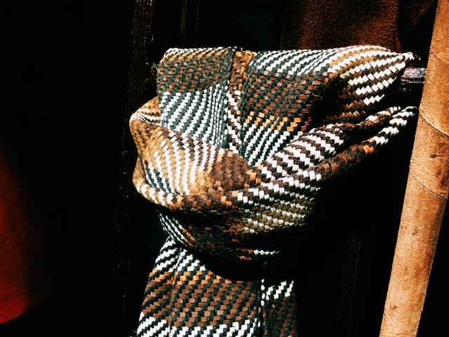 Berluti echarpe cachemire et cuir