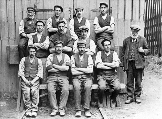 travailleurs pantalon gilet chemise