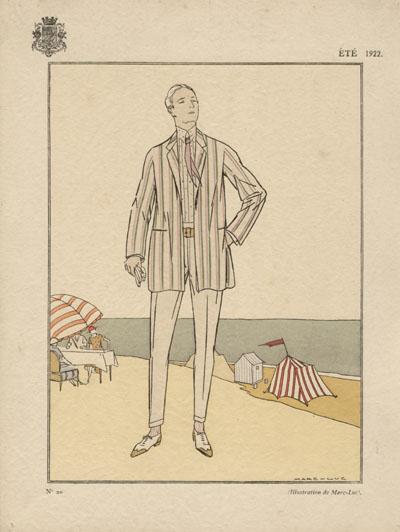 illustration dessin mode homme annnées 20