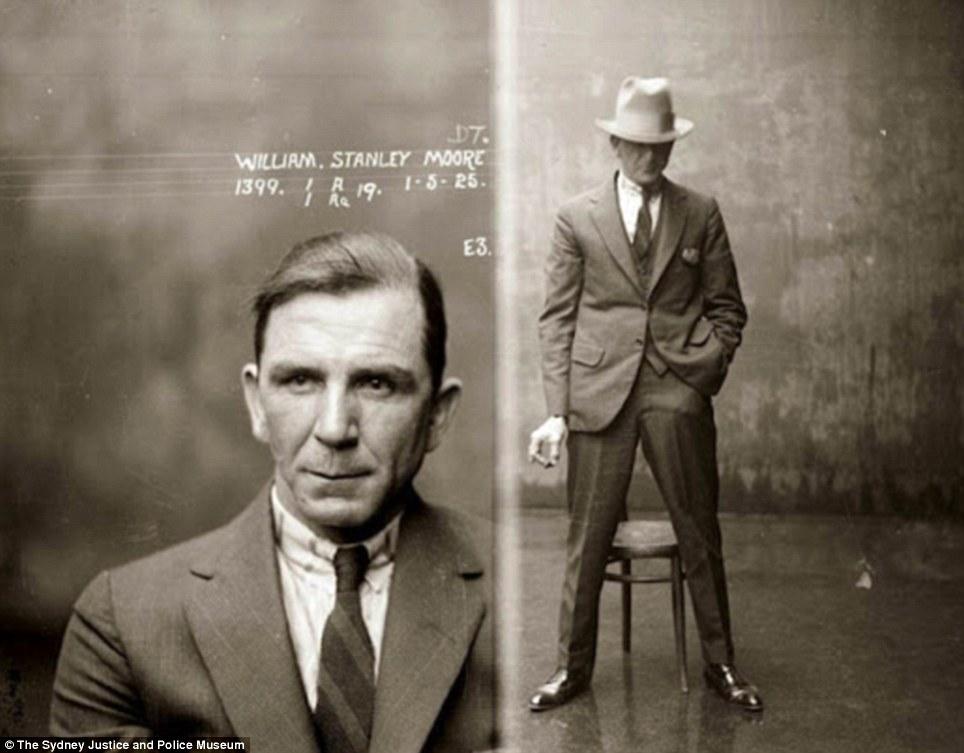 portraits malfrats rétro vintage costume