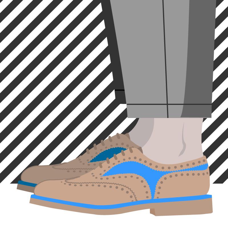 Portez des chaussures sans chaussettes