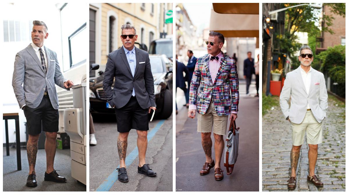 costume short chaussure sans chaussette