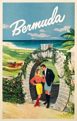 Office tourisme 1950 Bermuda