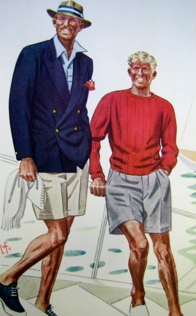 illustration mode homme vintage rétro