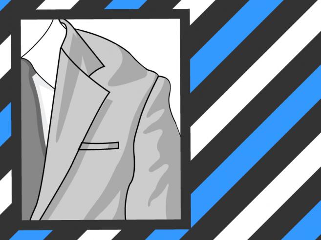 Epaule de veste trop grande