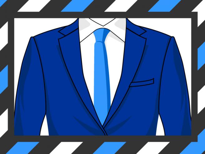 La bonne largueur d'épaule de veste de costme