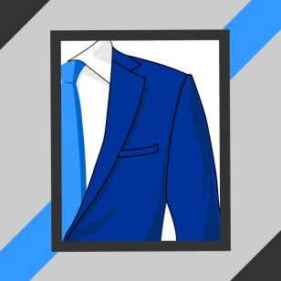De la bonne épaule de veste de costume