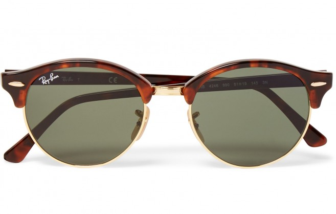 Ray-Ban Clubmaster Roundmaster lunettes de soleil rondes