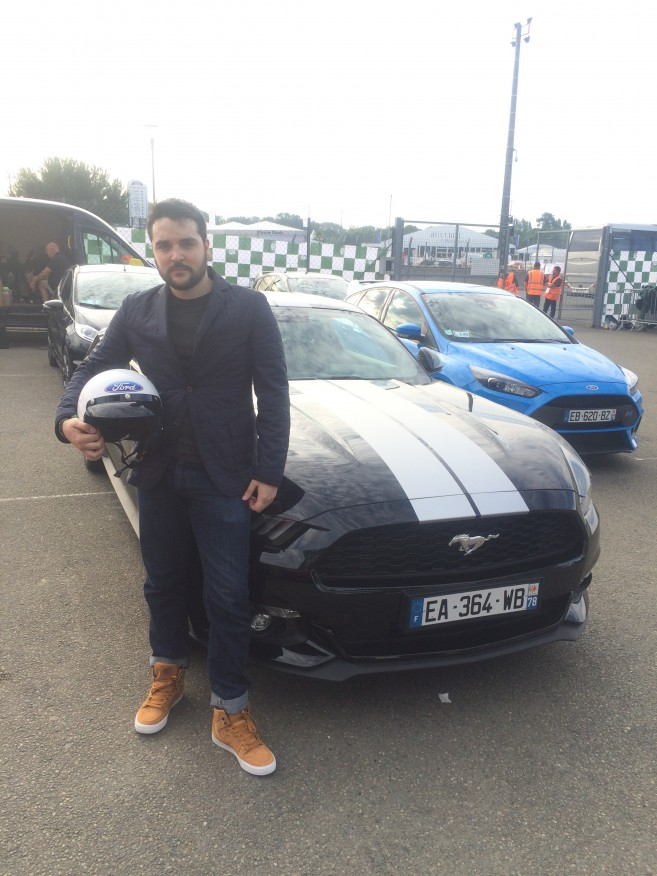 Look Dandy Driver: Veste matelassée - Figaret Auto T-shirt gris chiné - Primark Jean - Uniqlo Chaussures - Supra Skytop