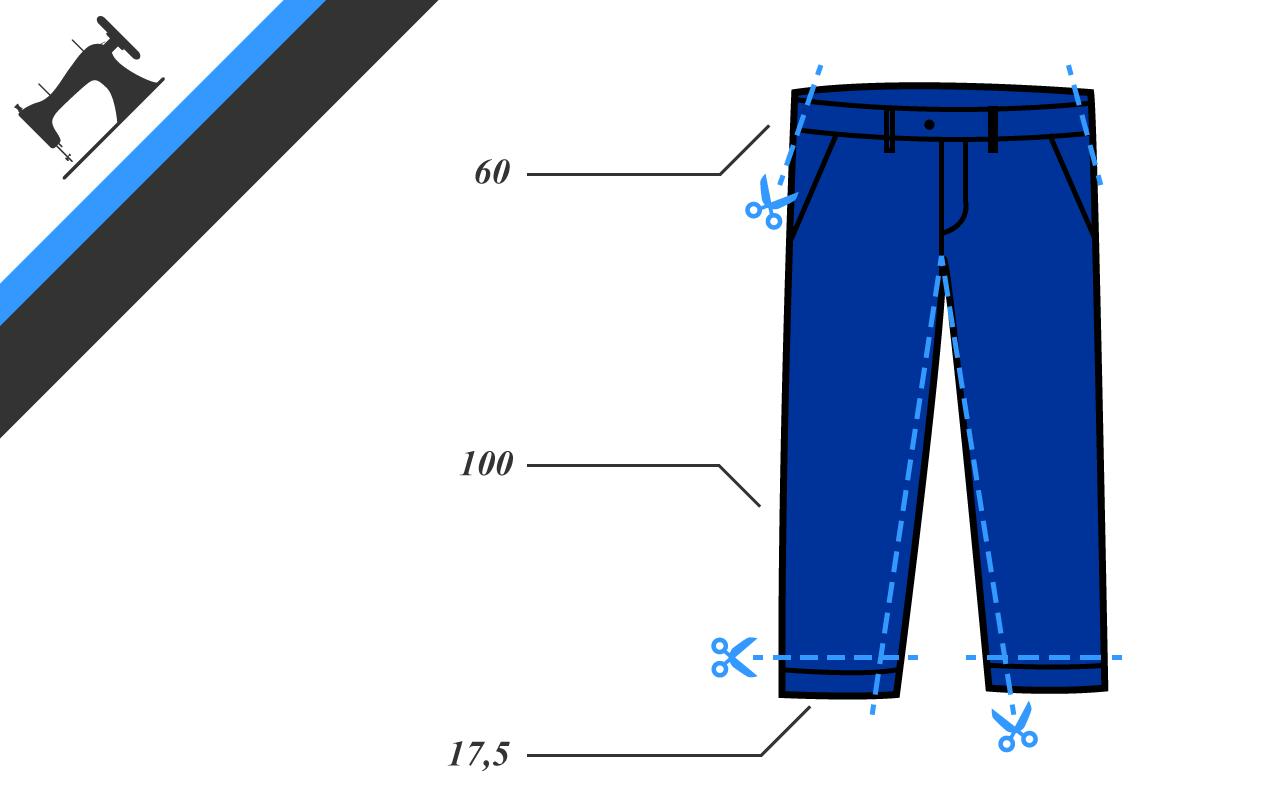 Comment retoucher un pantalon sodandy - Faire un ourlet de pantalon ...